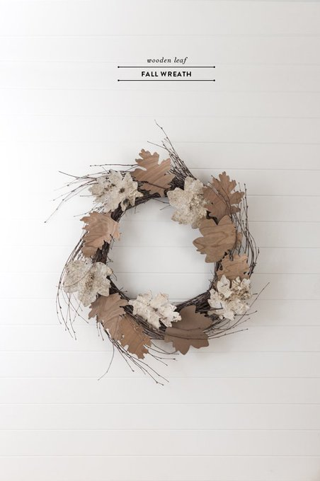 Wooden leaf fall wreath DIY homedecor home diy