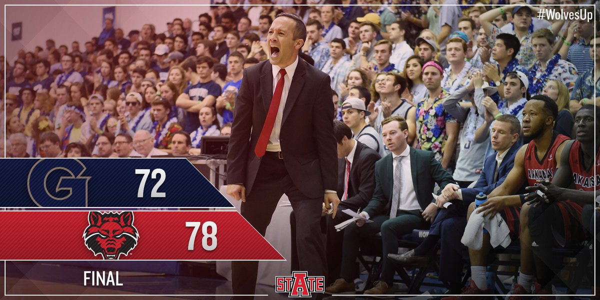The @AStateMB team defeats Georgetown 78-72 to improve to 2-1 on the season! #WolvesUp https://t.co/TNL91pjsiw