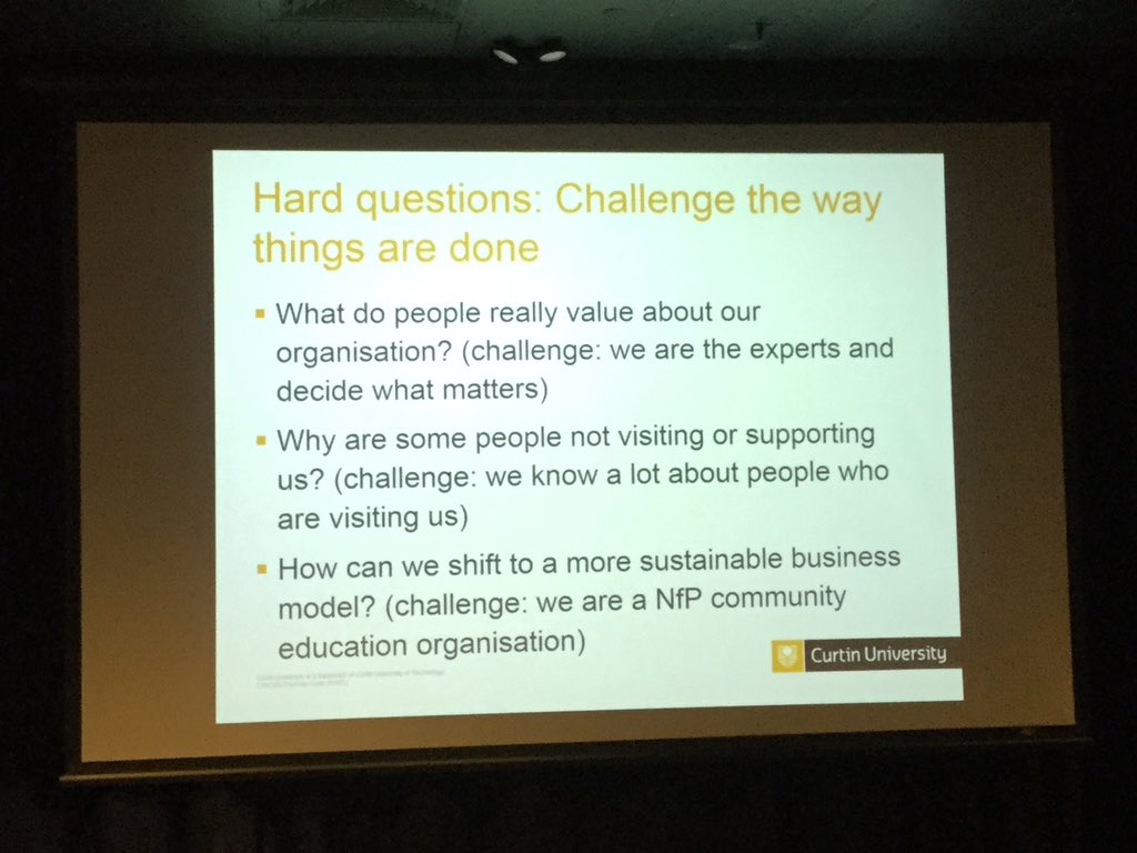 Be challenging when doing #museumeval Ask the hard questions #ASTEN16 https://t.co/dNViLHVTZO
