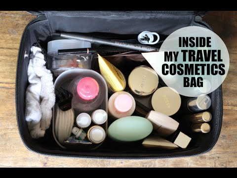 Inside My Travel Cosmetics Bag | Lily Pebbles LilyPebbles LoveYa MakeUp Beauty -