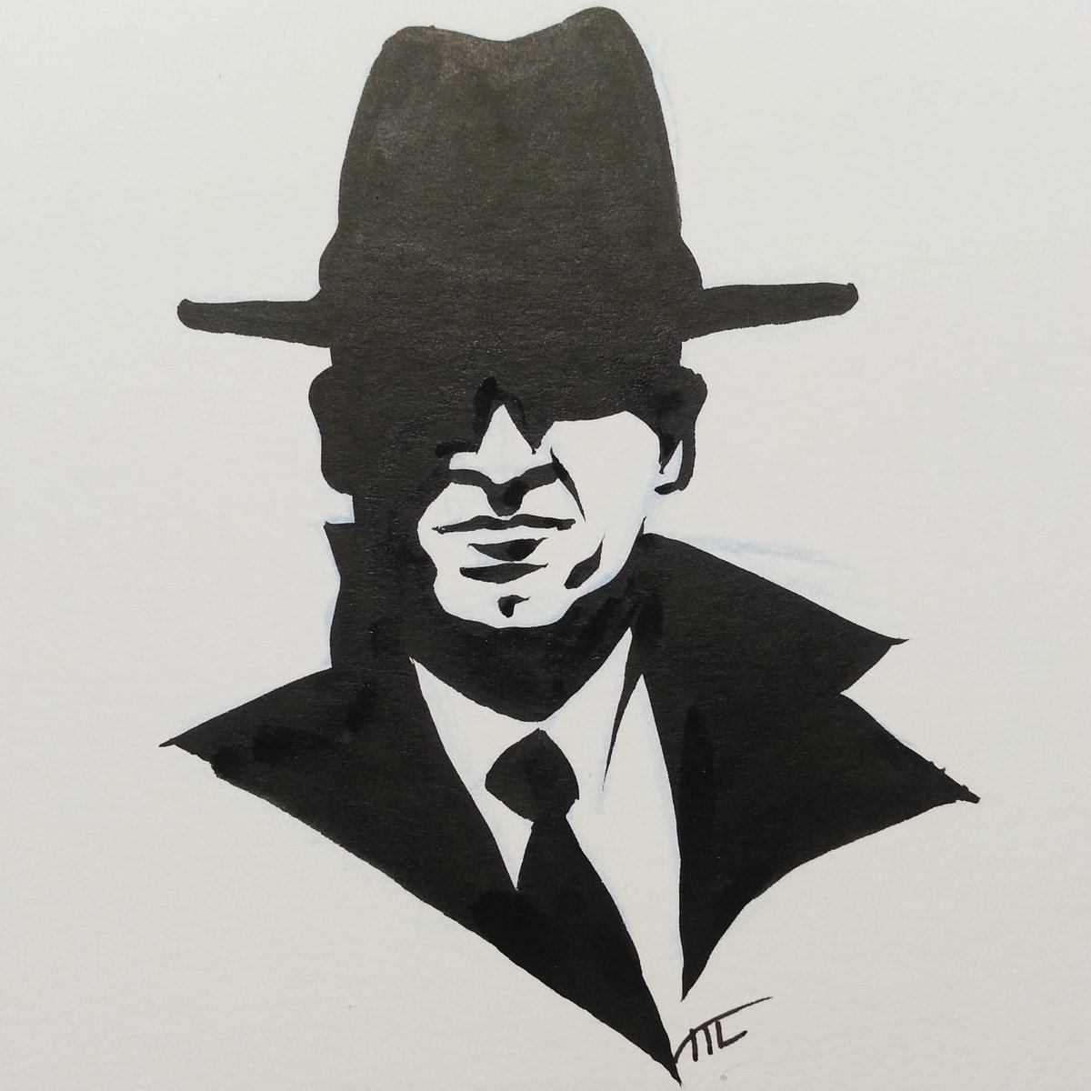 michelle lodge on twitter this noirvember day i again ink focusing on shadow only no line noir drawing inking bnw detectivecomics detective