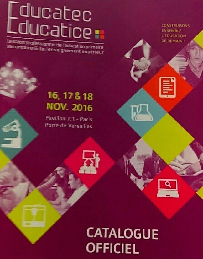 Arrivée à #educatectice, très heureuse de participer à cet événement. https://t.co/YVeQG6qokX