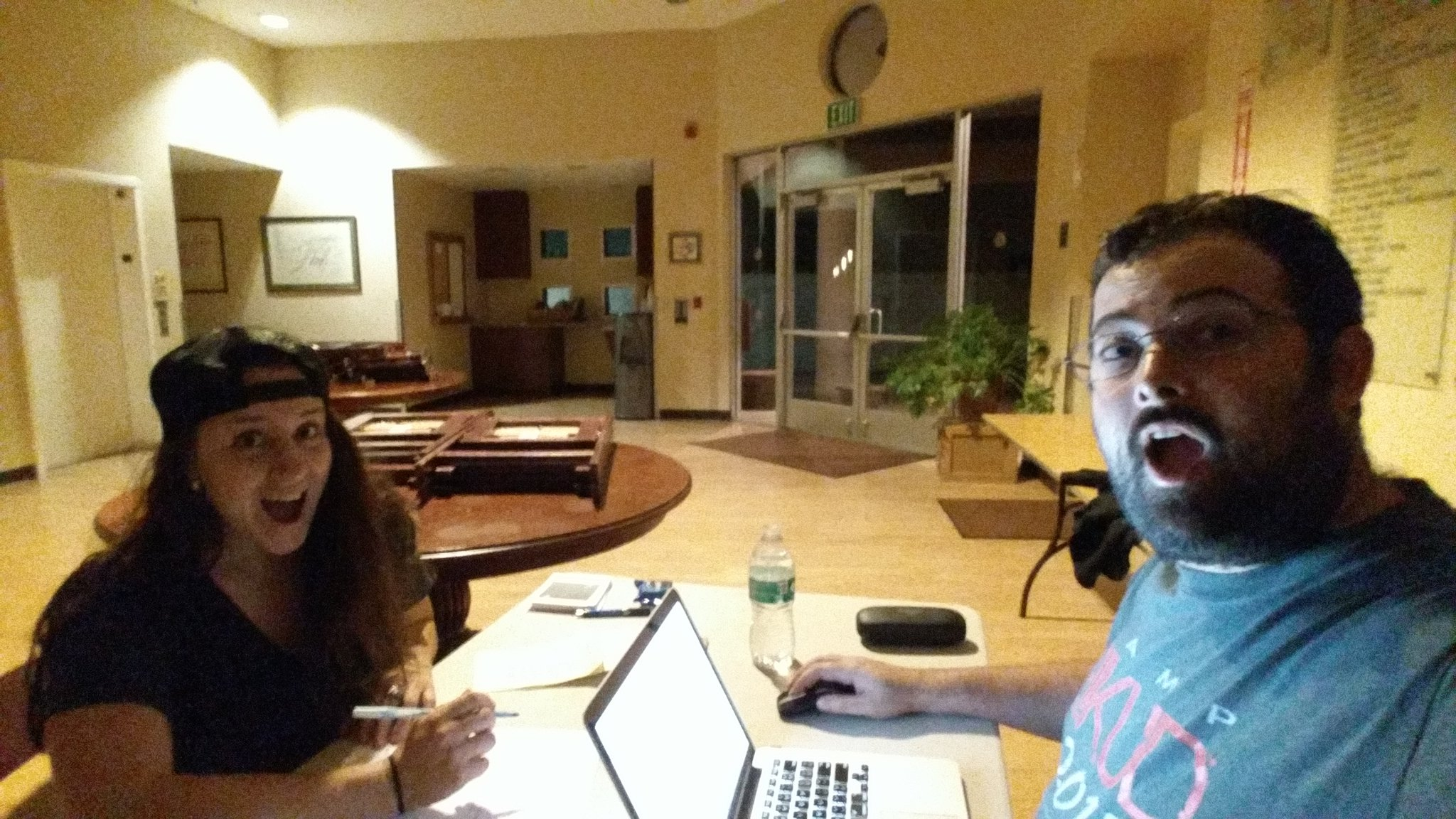 Nothing like one last midnight work session before #SciCommCamp. Can't wait to welcome everyone to camp tomorrow! https://t.co/M8ErQF9GZh