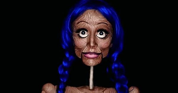 This marionette makeup tutorial looks frighteningly real: makeup makeuptutorial