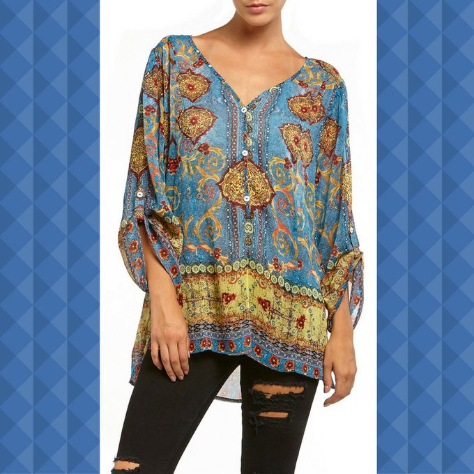 There is nothing better than this SR Bohemian Blue blouse. SiennaRoseInc fashion ootd