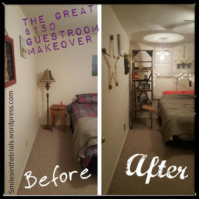 The Great $150 Guestroom Makeover DIY farmhousestyle tutorials DIYdecor itsfinallydone