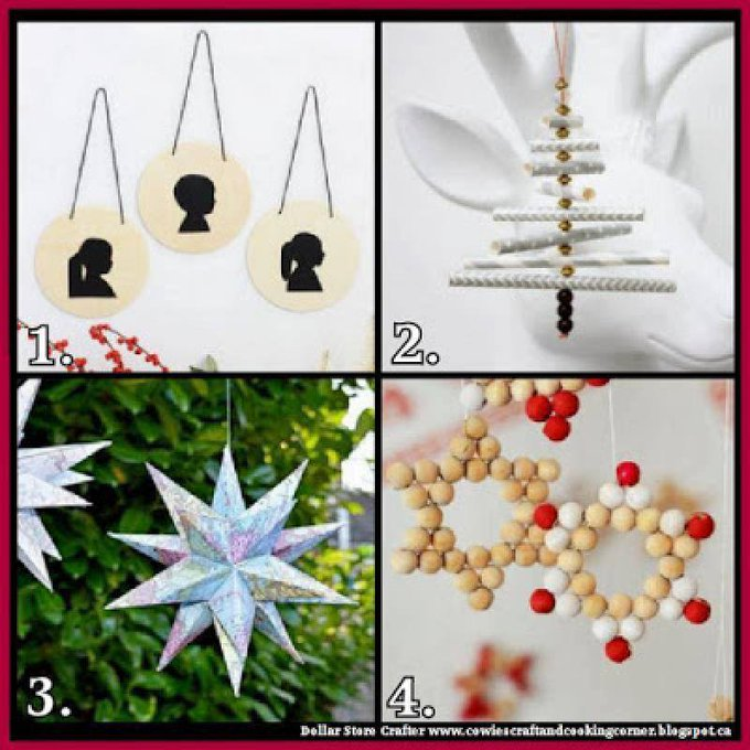 4 Homemade Christmas Ornament IdeasLINK>>christmas crafts christmascrafts diyornaments