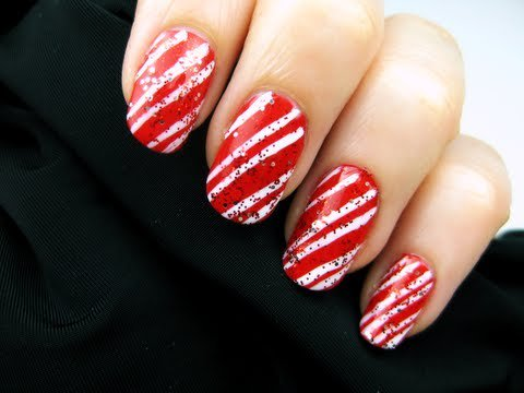 Easy Candy Cane Nail Art CutePolish Beauty Nails -
