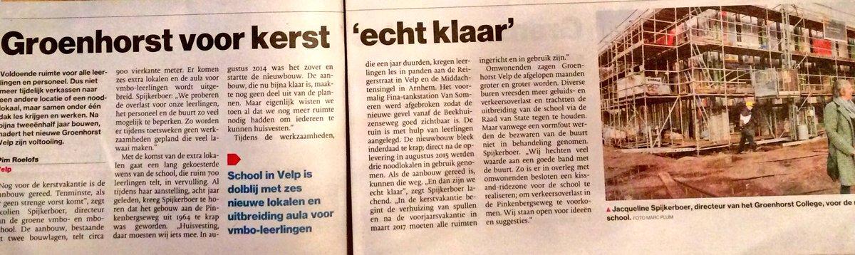 """aeres (v)mbo velp on twitter: """"nieuwbouw groenhorst velp nadert zijn"""