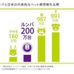 これは興味深いデータw日本の犬、猫、ウサギ、ルンバの数の比較w