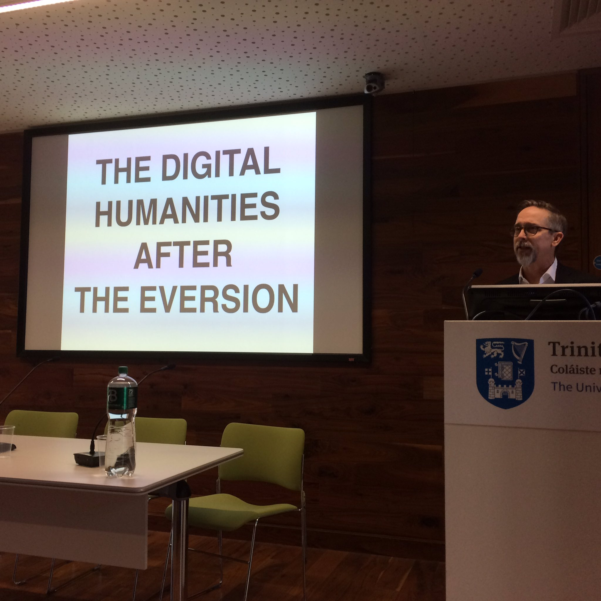 ".@s3jones giving opening keynote talk 'The Digital Humanities after the ""Eversion""' at DAH Digital Conference #dahphdie https://t.co/hvfRy1VA0a"