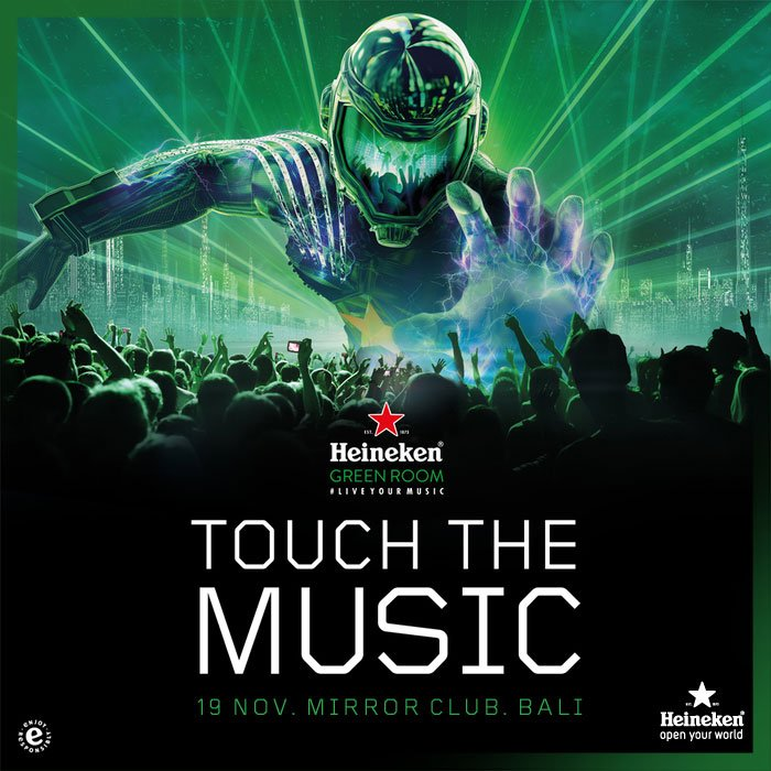 Prepare yourself for the biggest party series in Asia Pacific. Bali, here we come! #HeinekenGreenRoom #TouchTheMusic https://t.co/v784wm5AAc