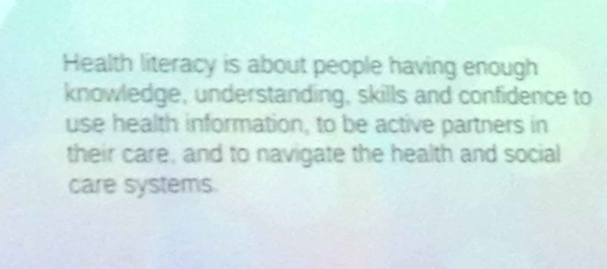 #scotinfolit @athain shares #healthliteracy definition and website https://t.co/JcAMqj3yEo https://t.co/R1RvDet21C