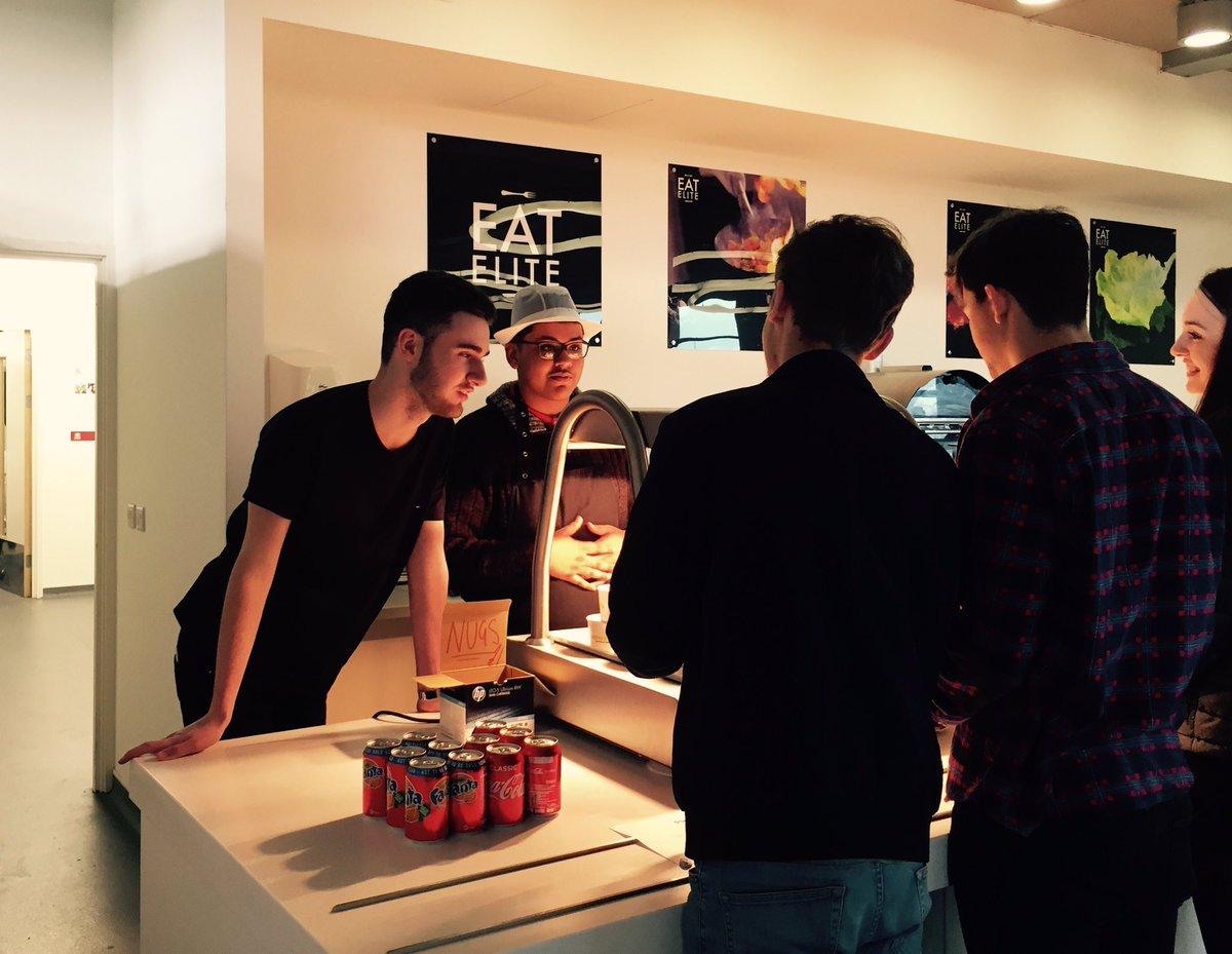 Business Studies students selling nuggets & drinks to raise money for Movember #entrepreneurs #nextapprentice