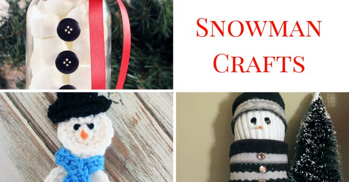 Cute Snowman Crafts! crafts DIY snowman