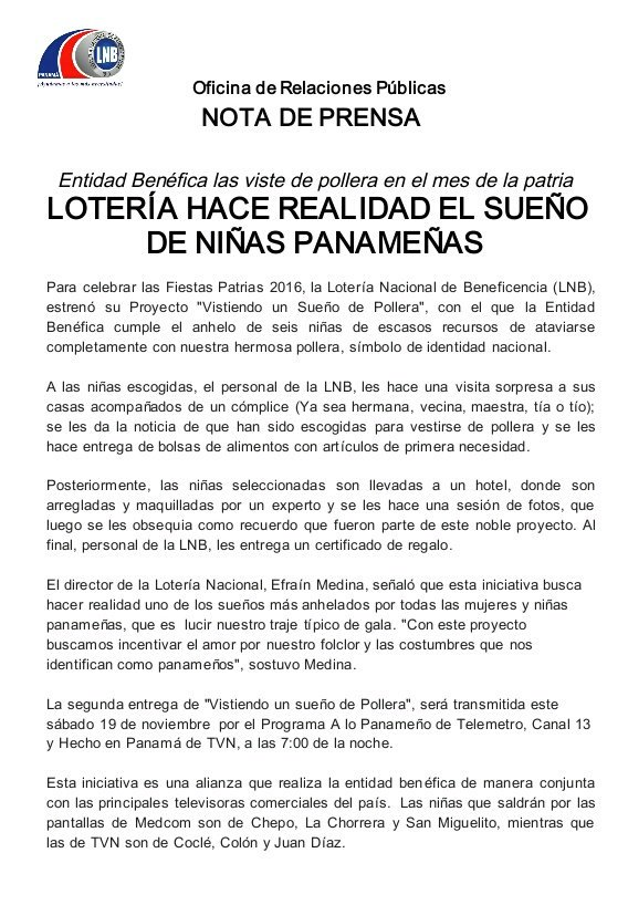 2fcb9e1d963cf Lotería Nacional Pmá on Twitter
