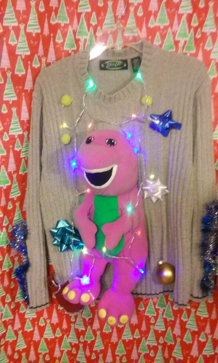 dinosaur dracula on twitter found someone on ebay who makes ugly christmas sweaters by stapling old toys to regular sweaters - Ebay Ugly Christmas Sweater