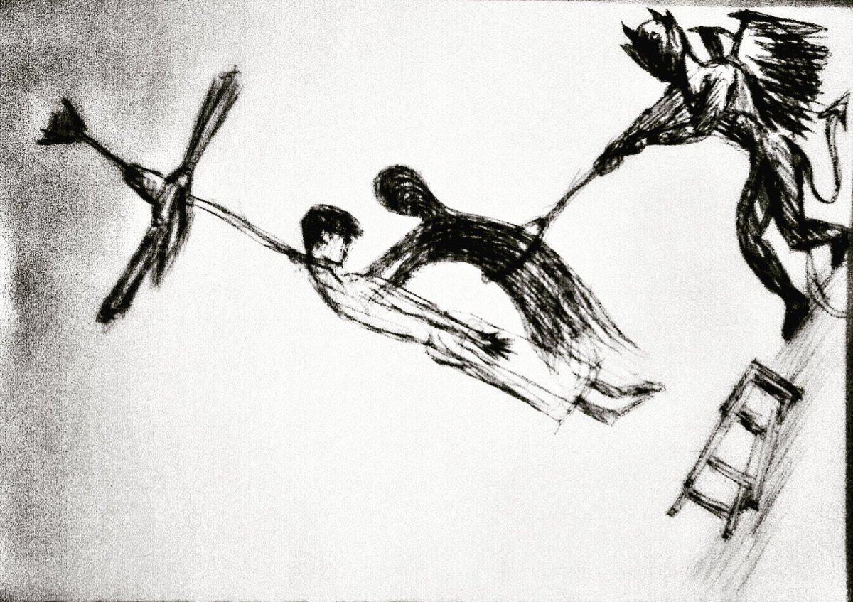 Monochrome of dreams on twitter devils wish art artist
