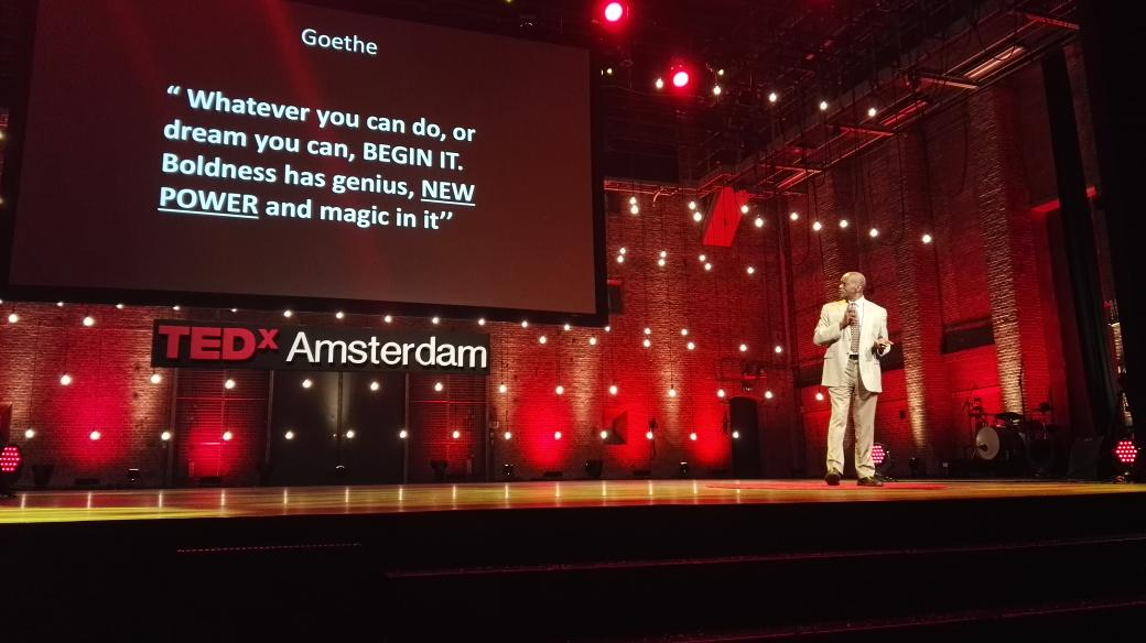 """""""Whatever you can do, or dream, BEGIN IT. Boldness has genius, #newpower and magic in it"""", Goethe quoted at #tedxams https://t.co/goNugjRT6E"""