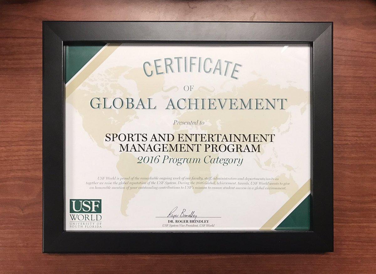 USF Vinik Sport MBA on Twitter: \