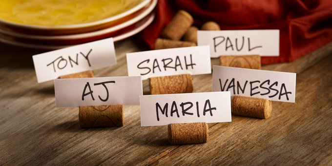 Save your wine corks for these DIY place cards.
