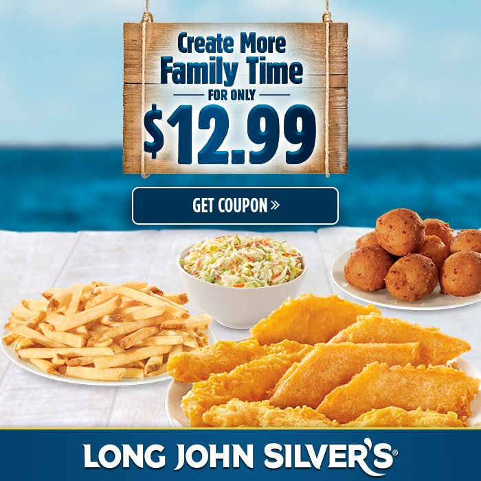 Long John Silver's is a nautical themed franchise. Its main attraction is its fast-food seafood meals. Breaded and fried, the company uses various fish for its meals.