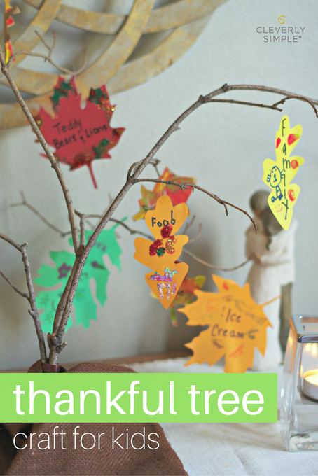 Homemade Thankful Tree Craft For Kids : DIY Thanksgiving
