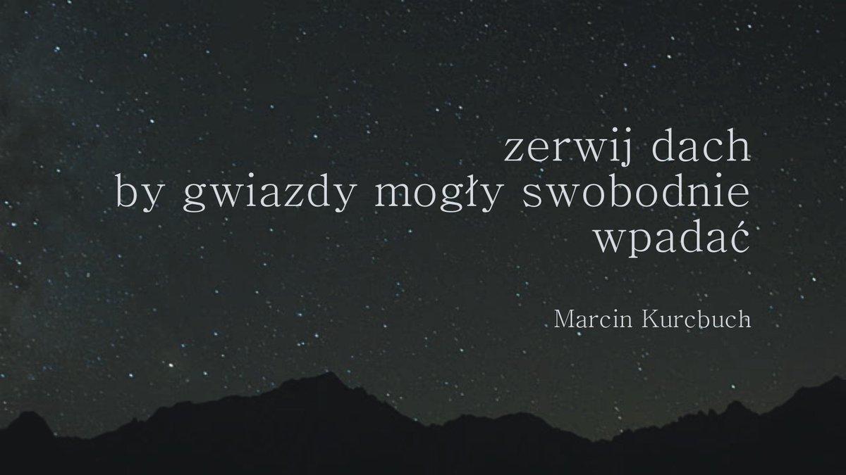 Marcin Kurcbuch On Twitter Z Wiersza Operacja Niebo