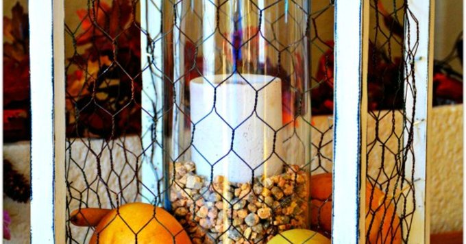 ChickenWire Centerpiece - crafts diy