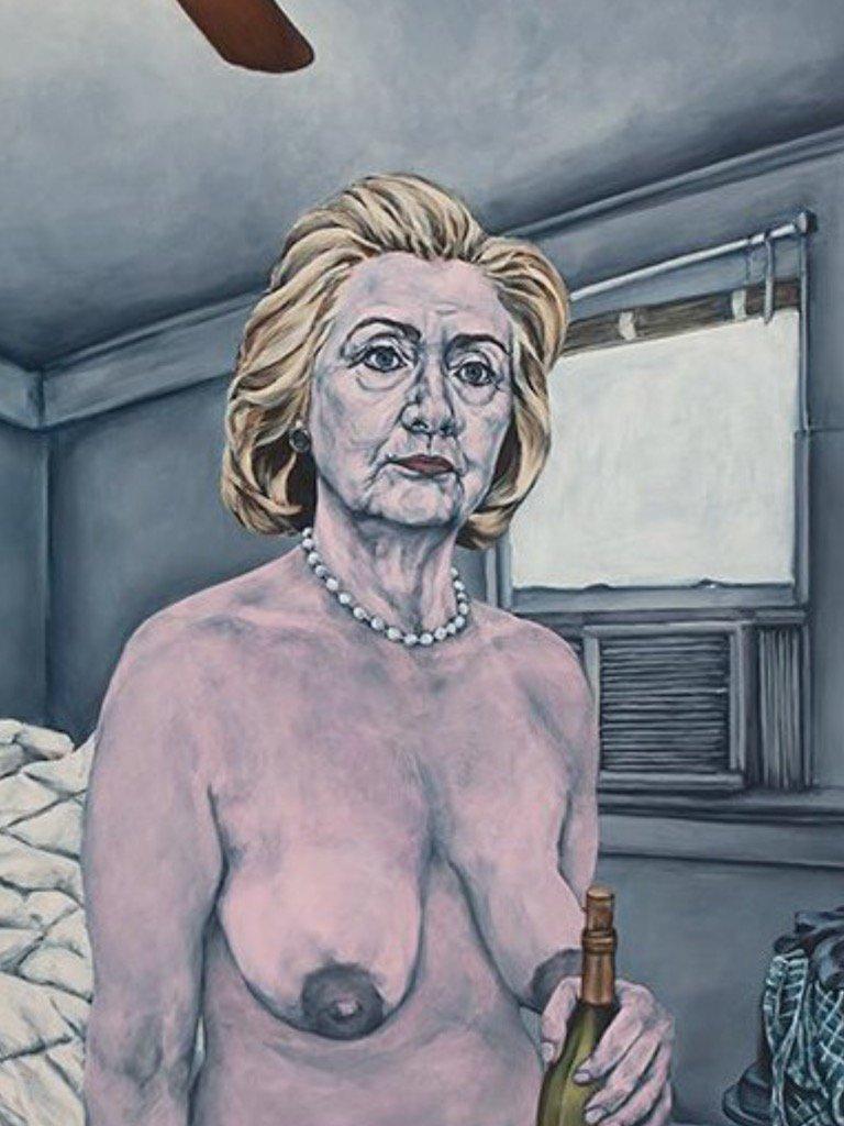Cartoon of hillary clinton naked
