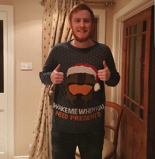 Halo Christmas Sweater.Ubernick On Twitter Big Thank You To Numskulldesigns For