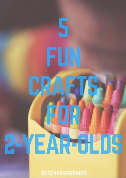 5 Fun Crafts For 2-Year-Olds. crafts kidscrafts kidsactivities