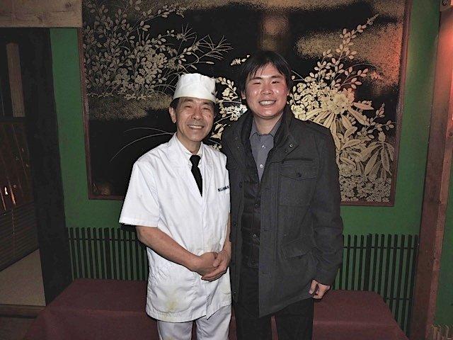 Chef Masaki Hashimoto with Travelling Foodie at Kaiseki Yu-zen Hashimoto, Toronto