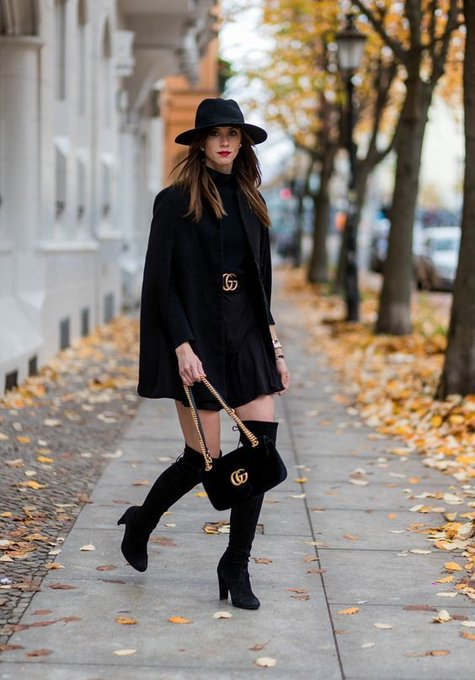 ALL BLACK IN BERLIN via VOGUE HAUS fashioninmysoul ootd