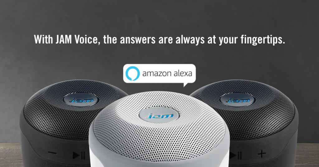 Kết quả hình ảnh cho Jam Voice Bluetooth Speaker with Amazon Alexa