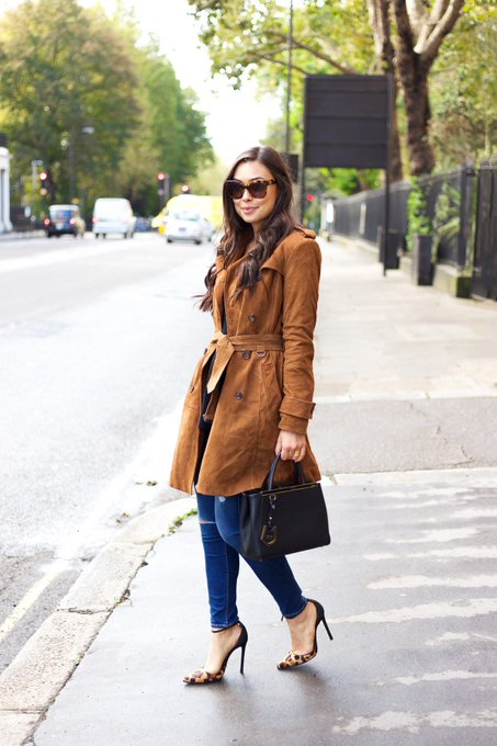 Suede Trench via With Love From Kat kattanita ootd