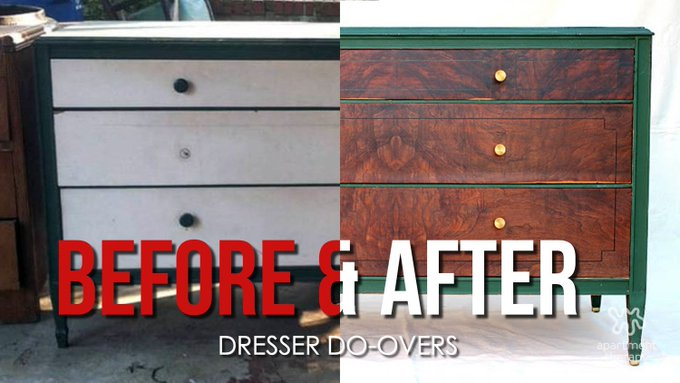 Dramatic Dresser Do-Overs That Will Leave You Reaching For a Paintbrush DIY interiordesign