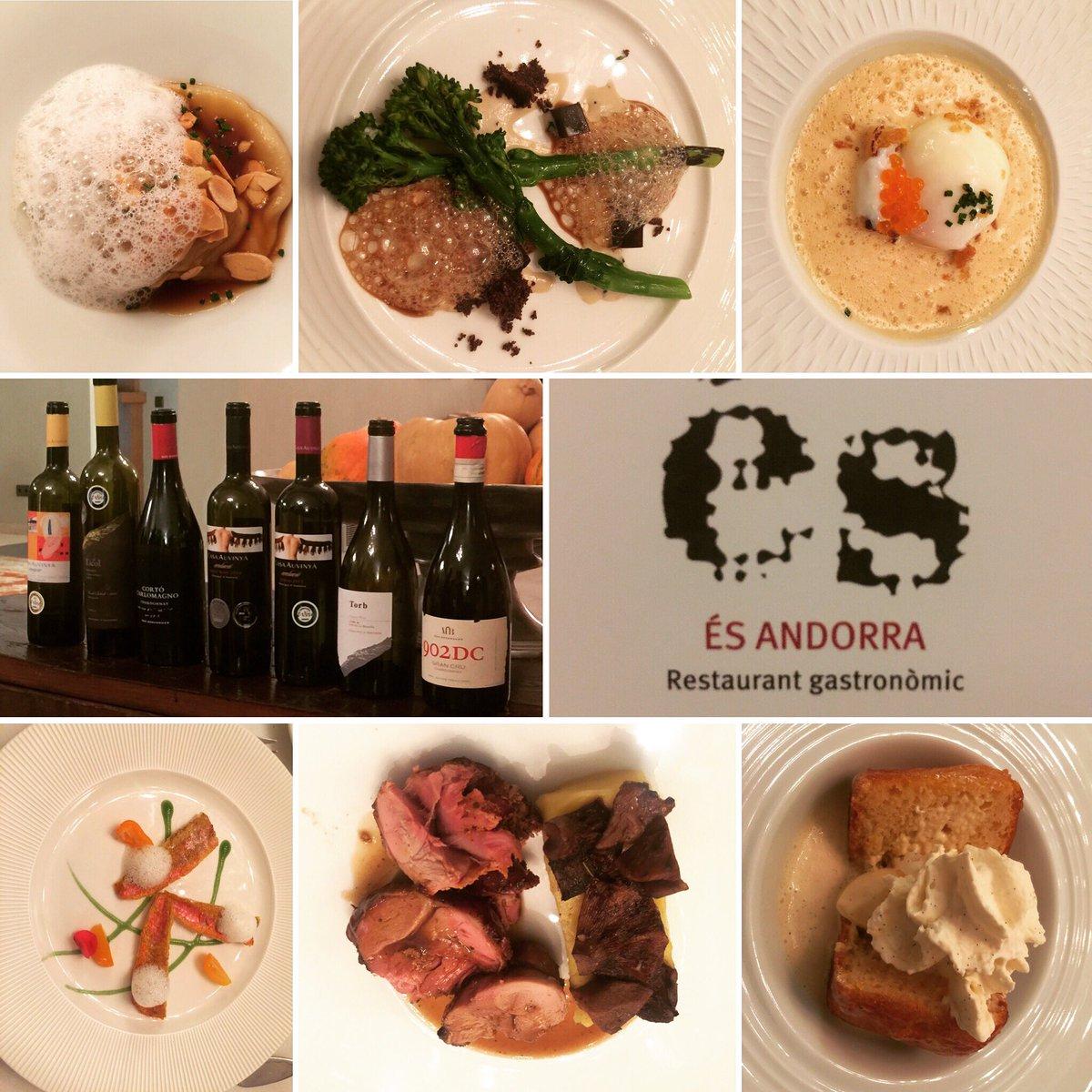 #cena de #bienvenida al #IVencuentromicroproductoresdevinoAndorra2016 en el #restauranteés #chef #marcmora @jpele80 @fredericgaltier #winepic.twitter.com/LQeIJsgYmW