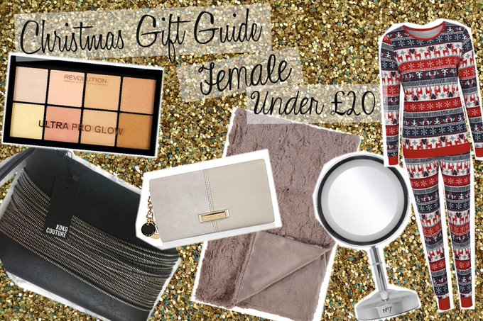 N E W P O S T // Female Christmas gift guide, under 20! bbloggers giftguides