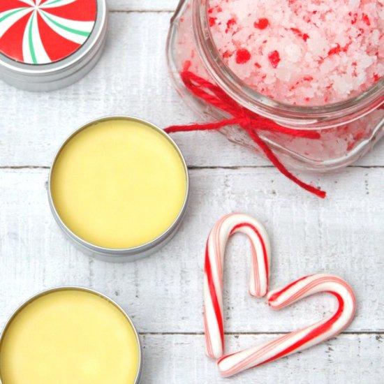 DIY Peppermint Lip Balm and Hand Scrub
