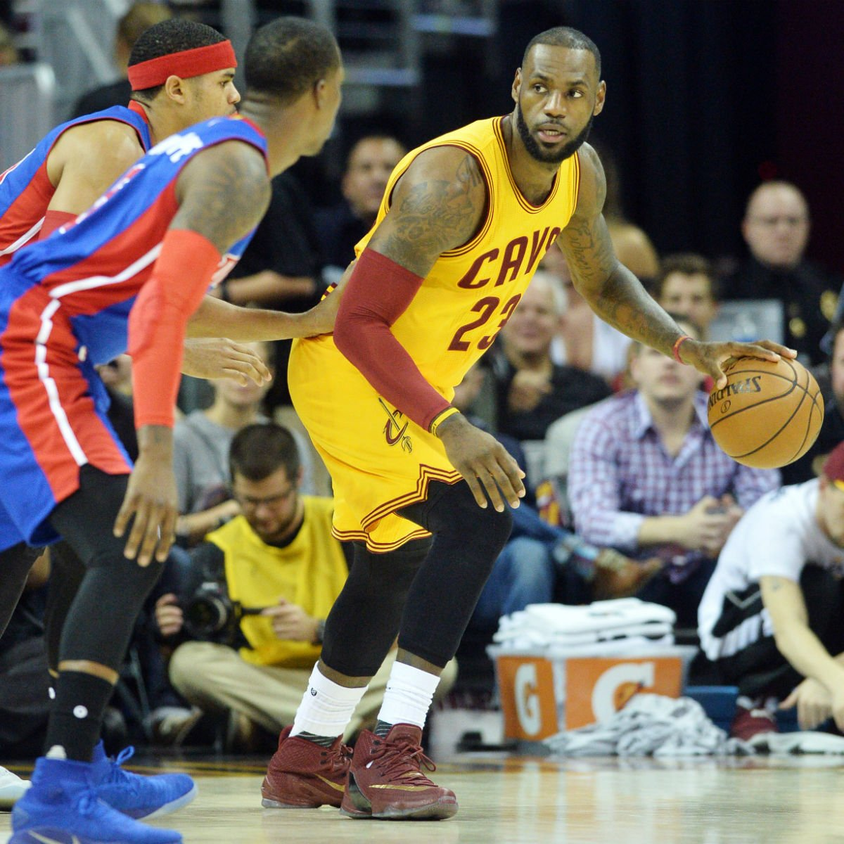 a115d81148d  solewatch   kingjames wearing the nike lebron 13 elite. Share on Twitter
