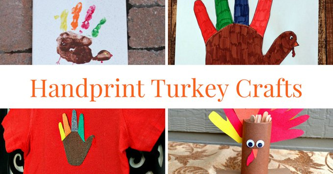Handprint Turkey Crafts - crafts kids thanksgiving