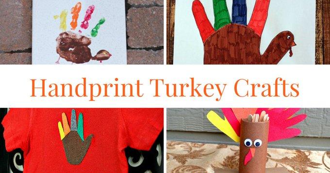 Handprint Turkey Crafts - crafts kids thanksgiving