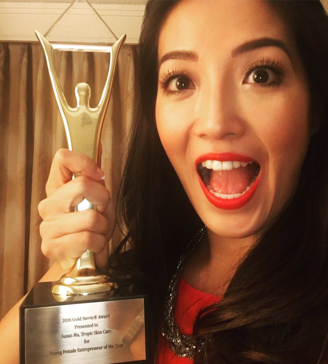 GOLD!!!!! For Young Female Entrepreneur of the Year!! Thank you! #StevieAwards #proudselfie #Honoured #NewYork