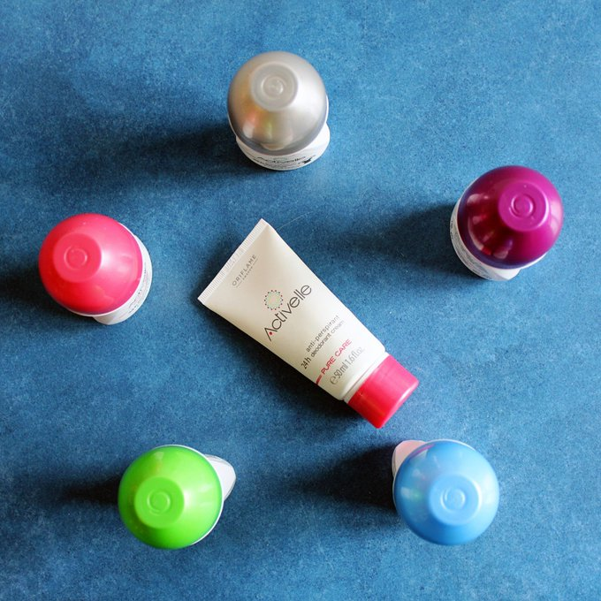 A review of the Oriflame deodorant line, Activelle skincare bbloggers deodorant