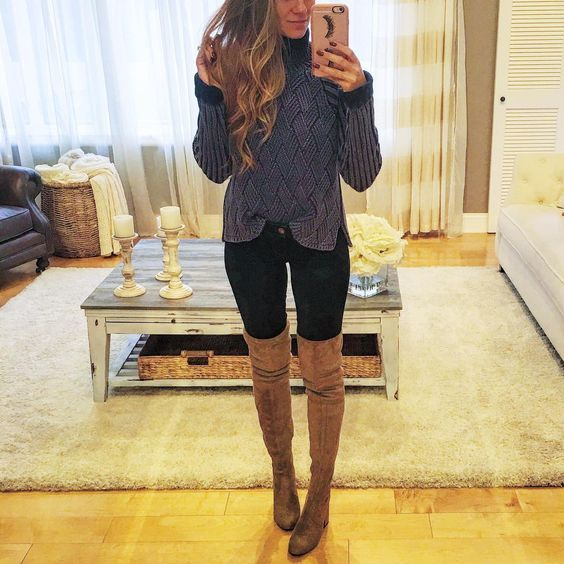 obsessed with over-the-knee boots via Hello Gorgeous AngelaLanter ootd