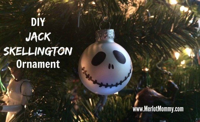 DIY Jack Skellington Ornaments JackSkellington diy