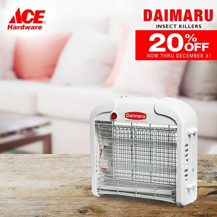 Everything's here including this Daimaru Insect Killer!  Get 20% OFF when you but at ACE Hardware!  #SMStyleSaturdays #EverythingsHereAtSM https://t.co/PsfhhhsENp