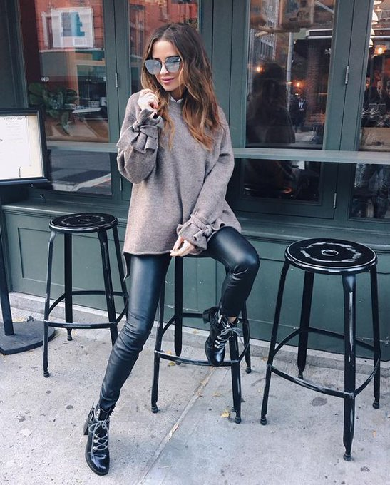 Leather pants via Bridget Bahl bridgethelene ootd