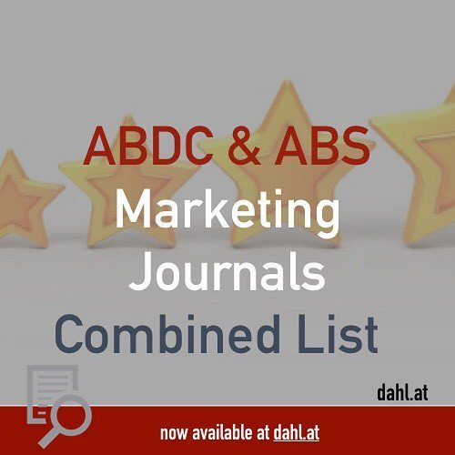 Stephan Dahl On Twitter Combined List Of ABDC And ABS Journal